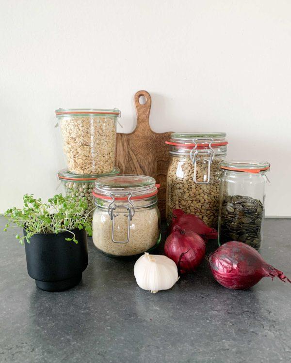 weckpot van glas inmaken en opbergen keuken