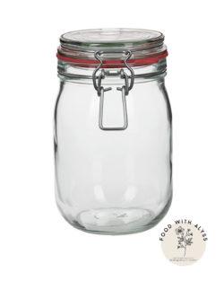 Beugelpot van glas, opbergen keuken 1140 ml