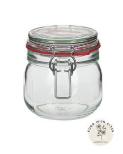 Beugelpot van glas, opbergen keuken 634 ml