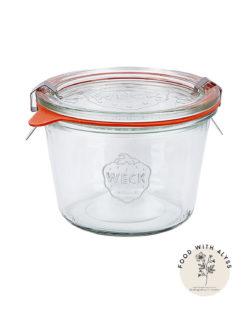 Opbergpot inclusief deksel, rubberen ring en klemmen 370 ml
